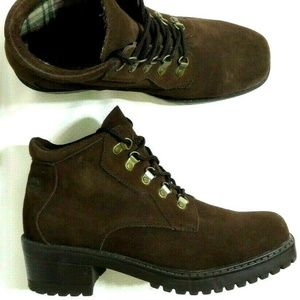 Totes Hiking Leather Brown Boots Stomper